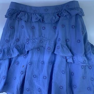 Majorelle ruffle skirt
